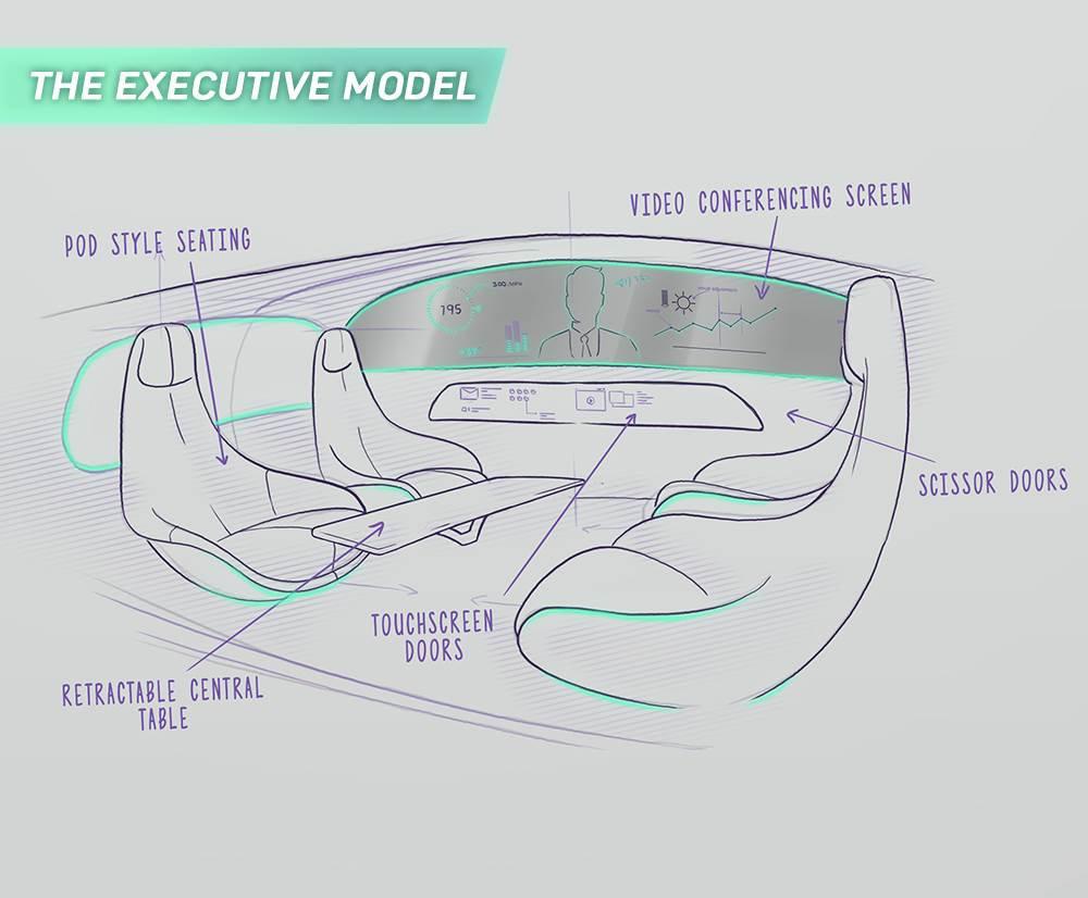 Executive driverless pod