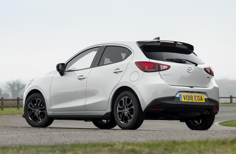 Mazda2 White rear black wheels