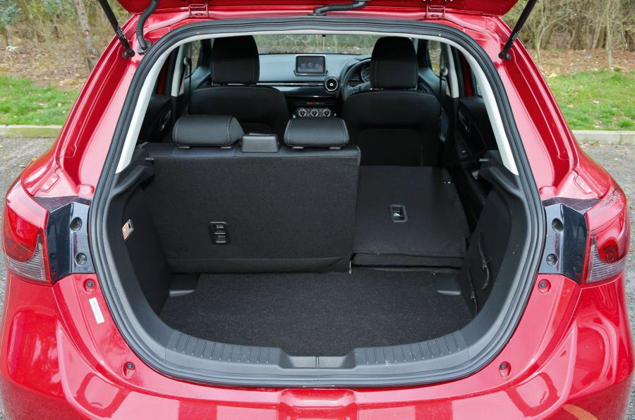 Mazda2 boot and luggage area