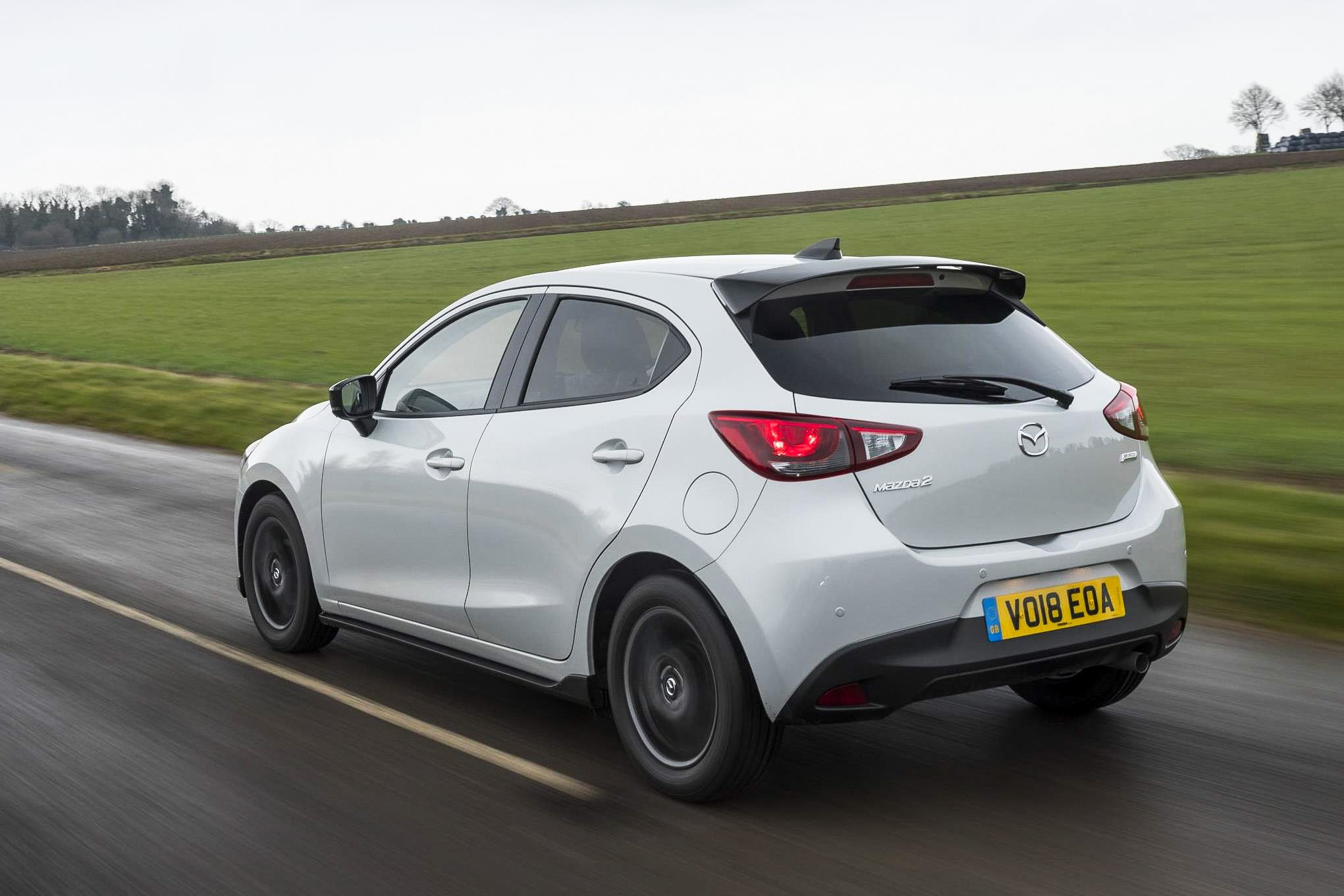 Mazda2 white rear
