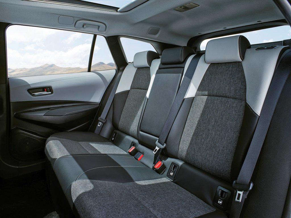 Toyota Corolla rear seat