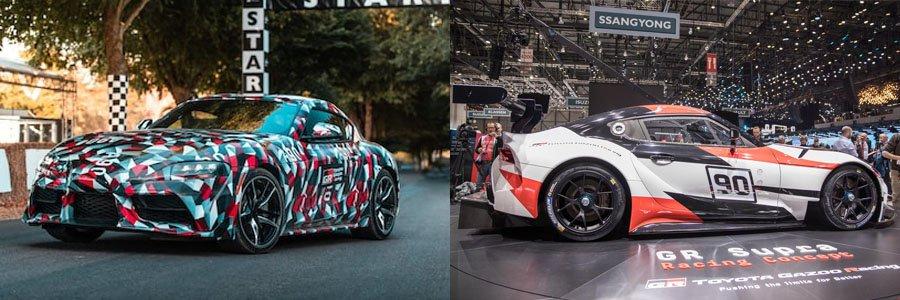 Camo and Racing GR Supra