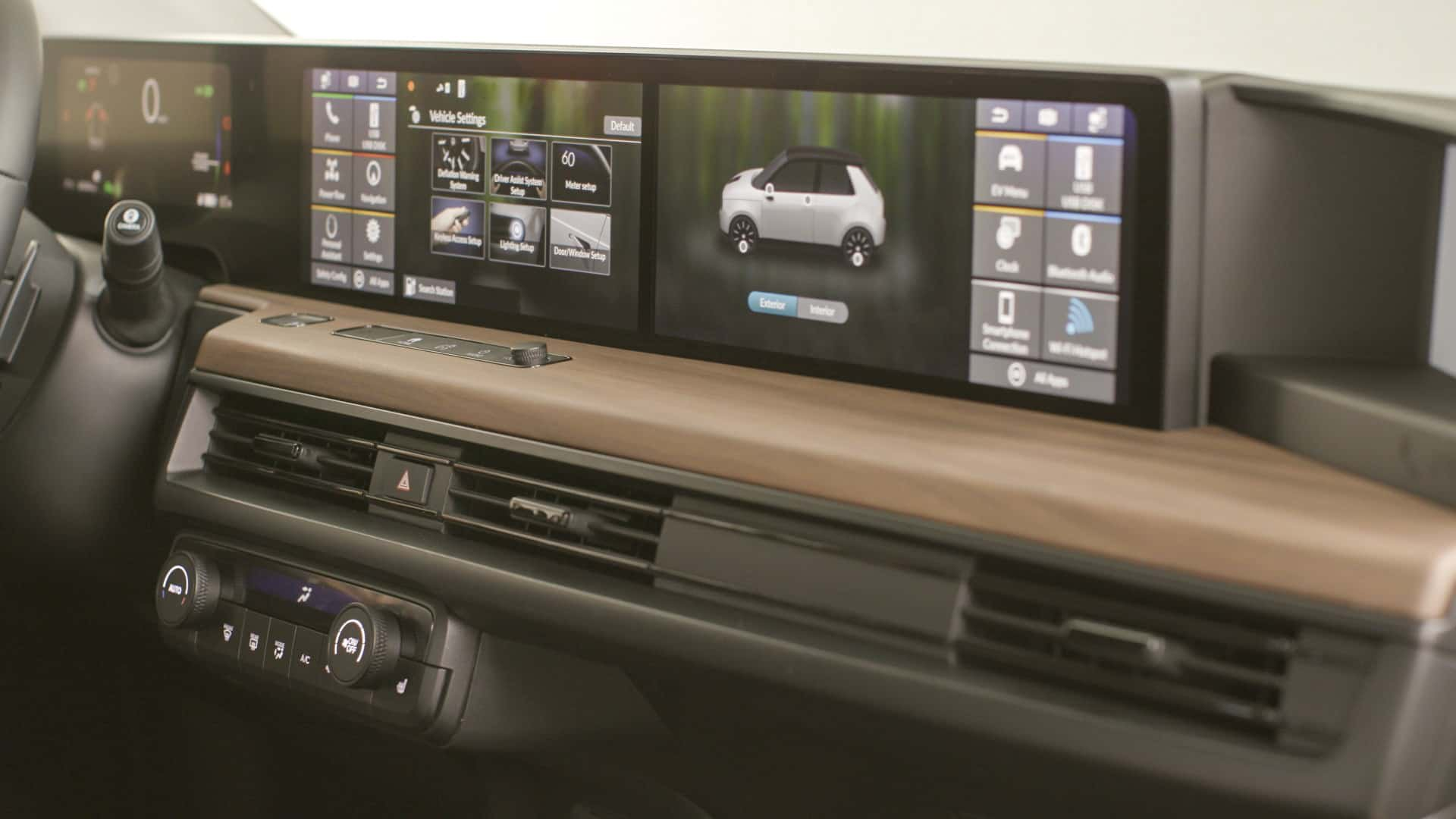 Honda E Controls