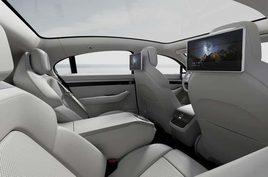 Sony Vision S Rear Seats
