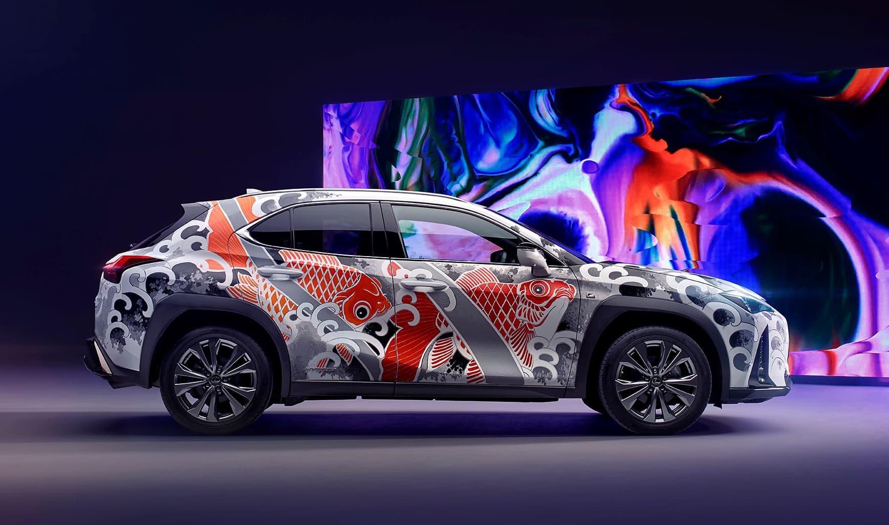 Tattooed Lexus Side