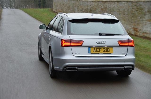 Audi A6 Avant silver rear