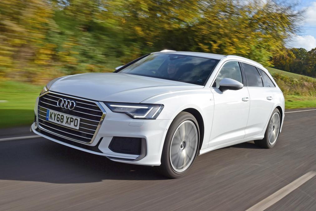 Audi A6 Avant White front