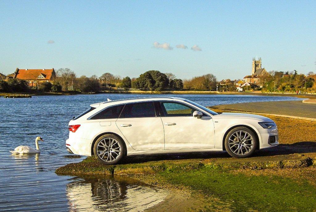 Audi A6 Avant White and swan
