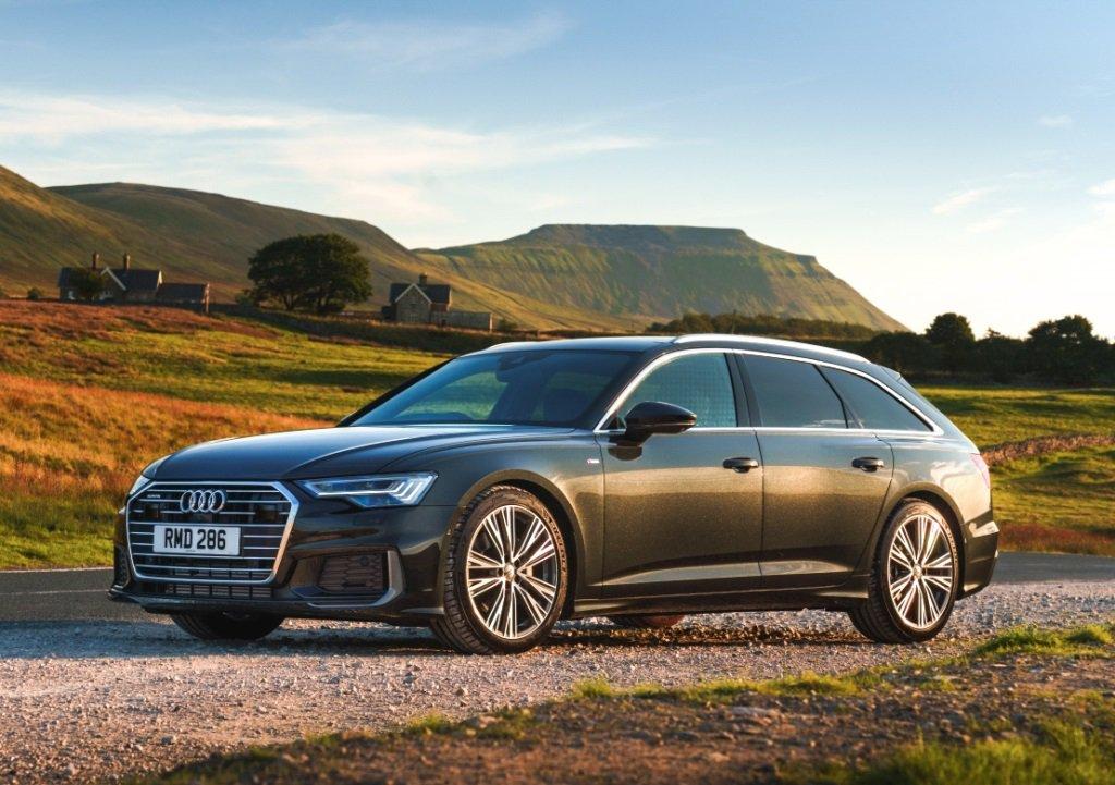 Audi A6 Avant Grey front