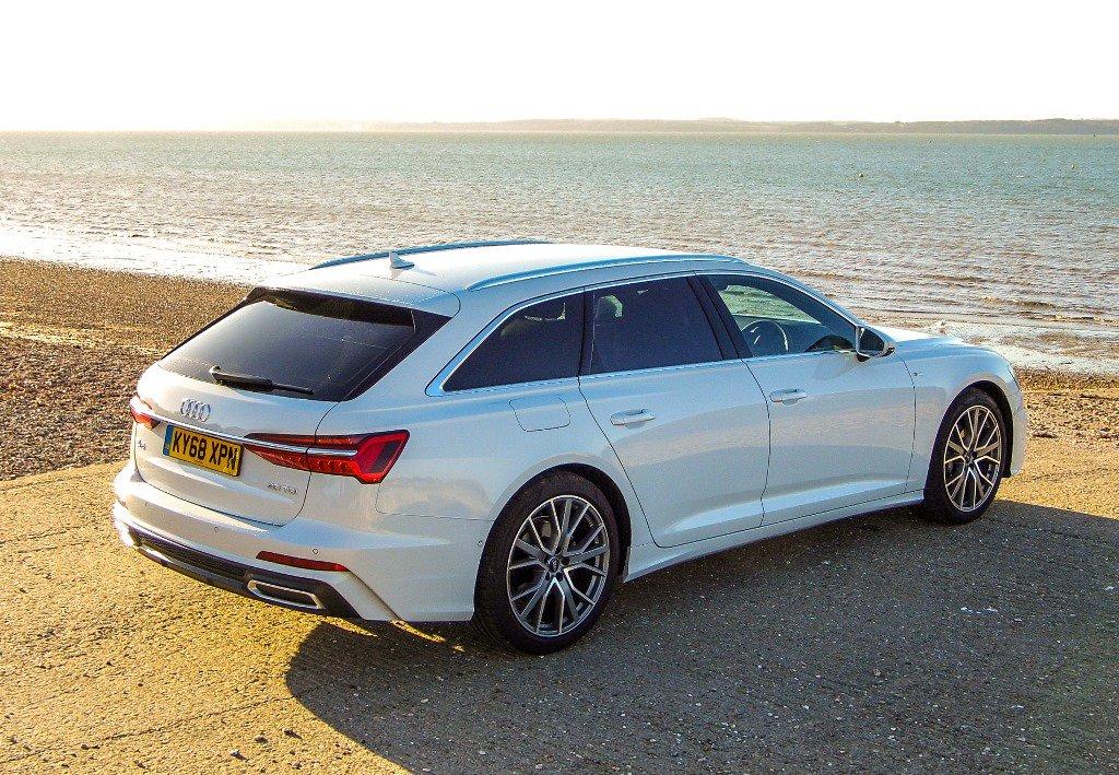Audi A6 Avant White Rear