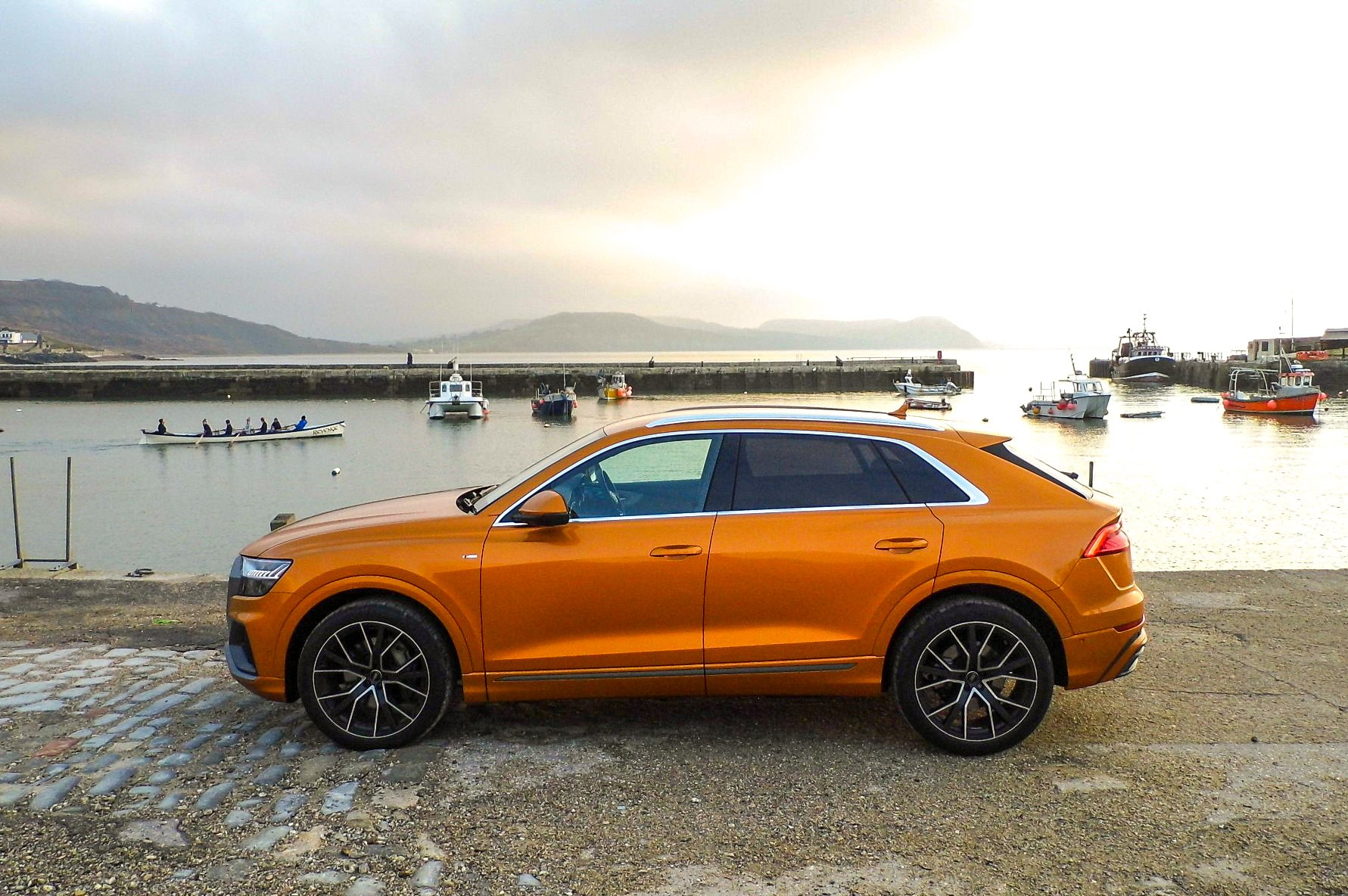 Audi Q8 side view waters edge