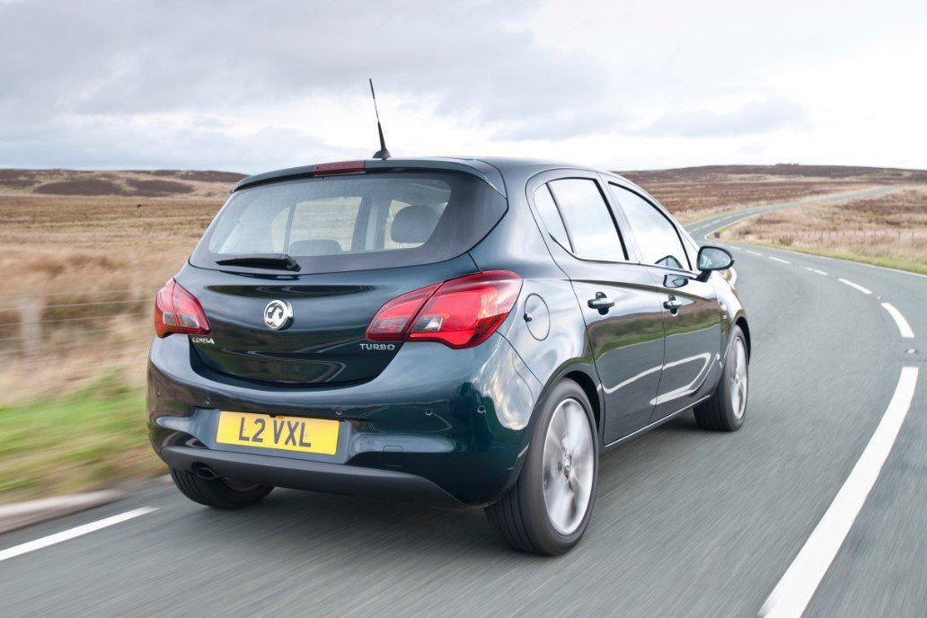 Vauxhall Corsa on road
