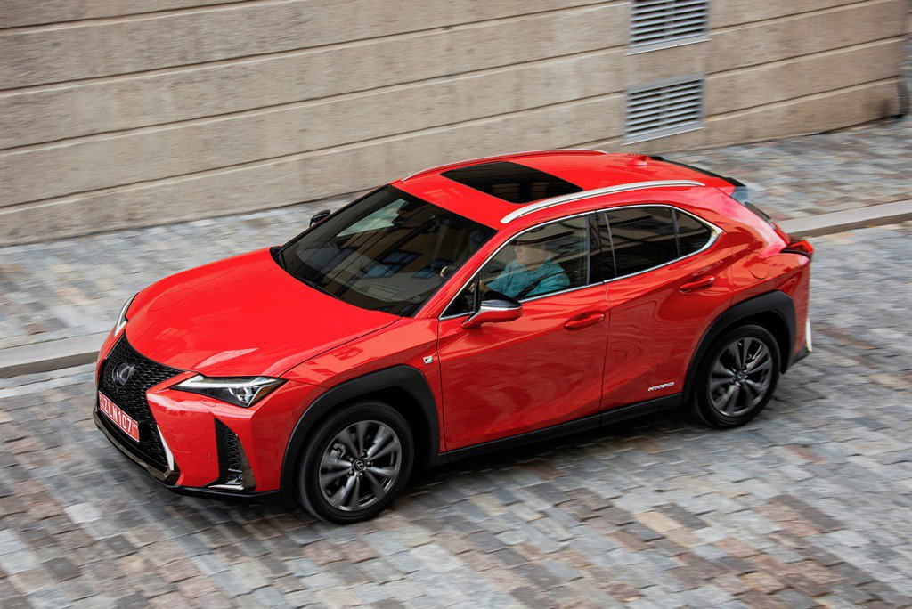 2019 Lexus UX moving from above