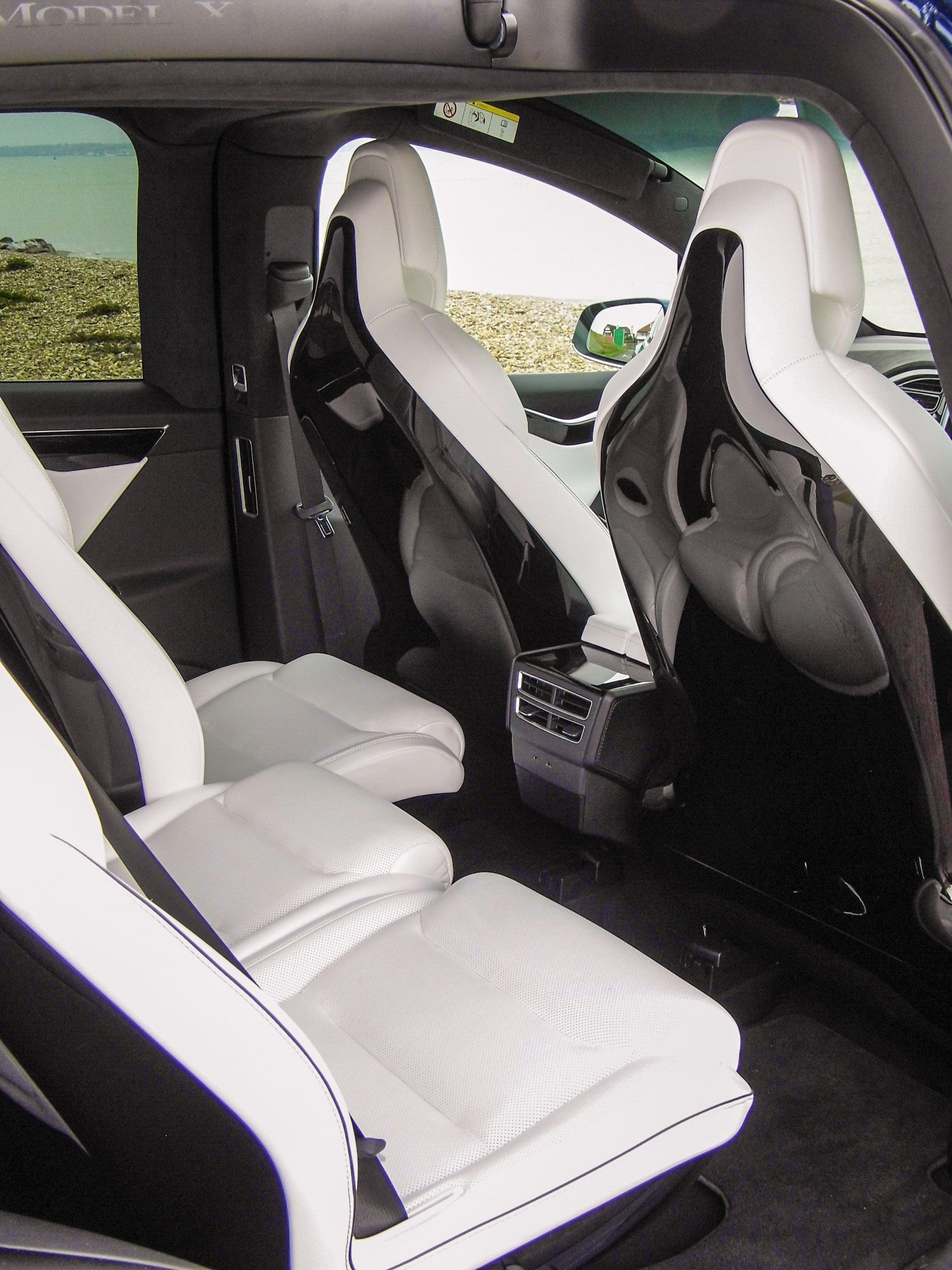 Tesla Model X middle seats and front seat backs