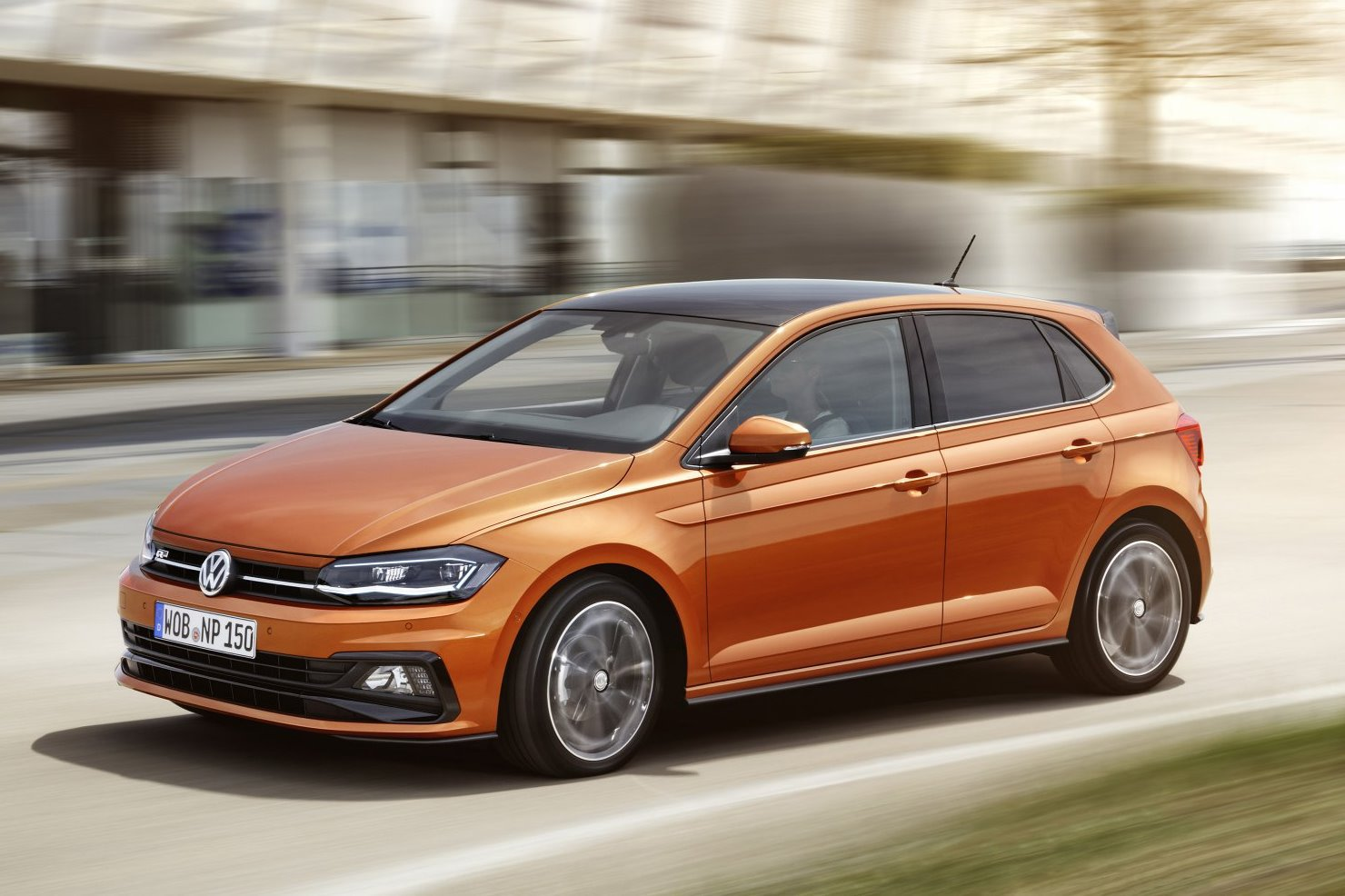 2018 Volkswagen Polo Front Side on road