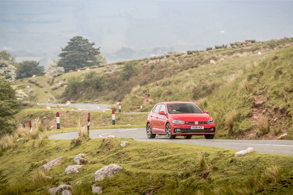 Volkswagen Polo GTi country road