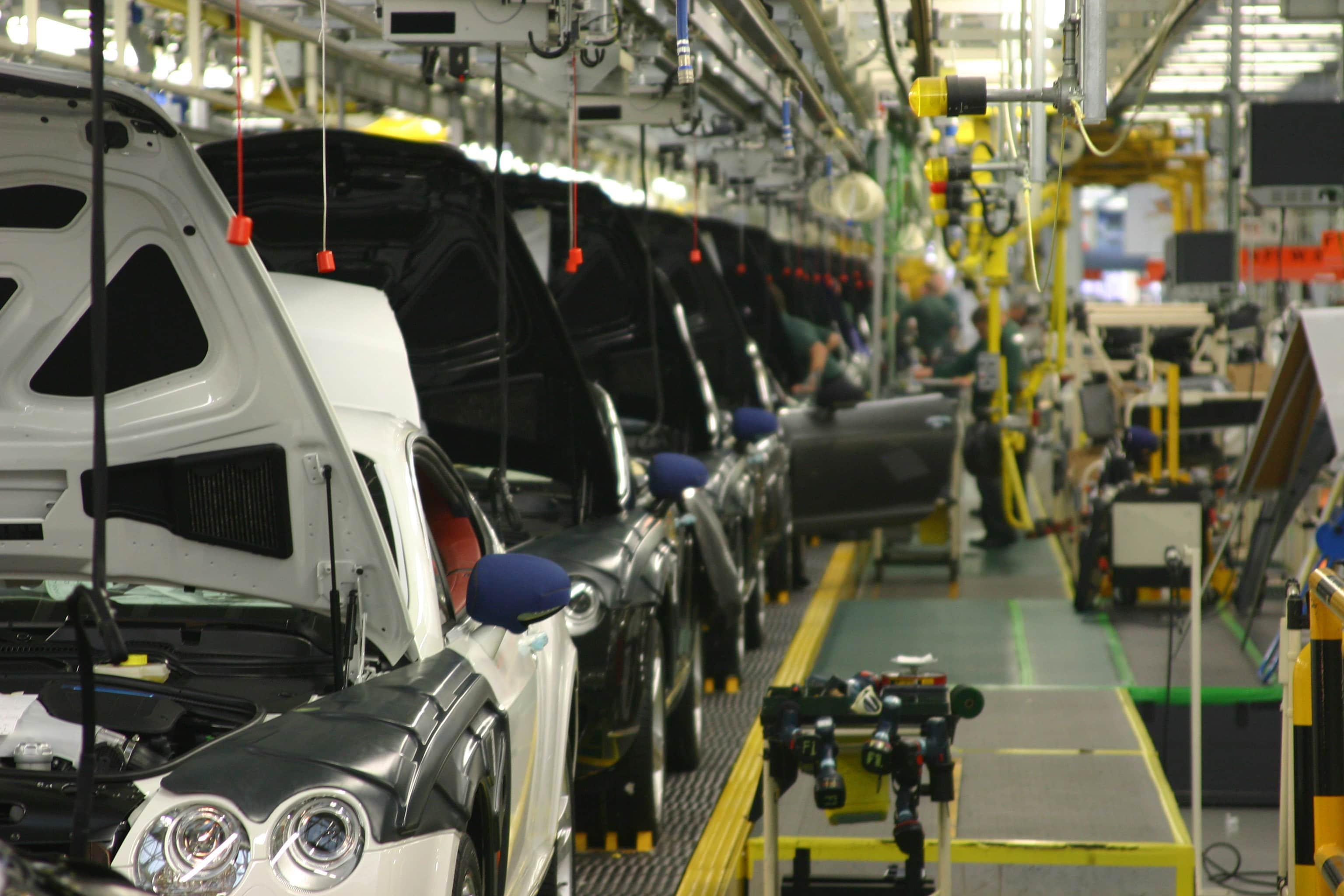 2003 Bentley Production line.