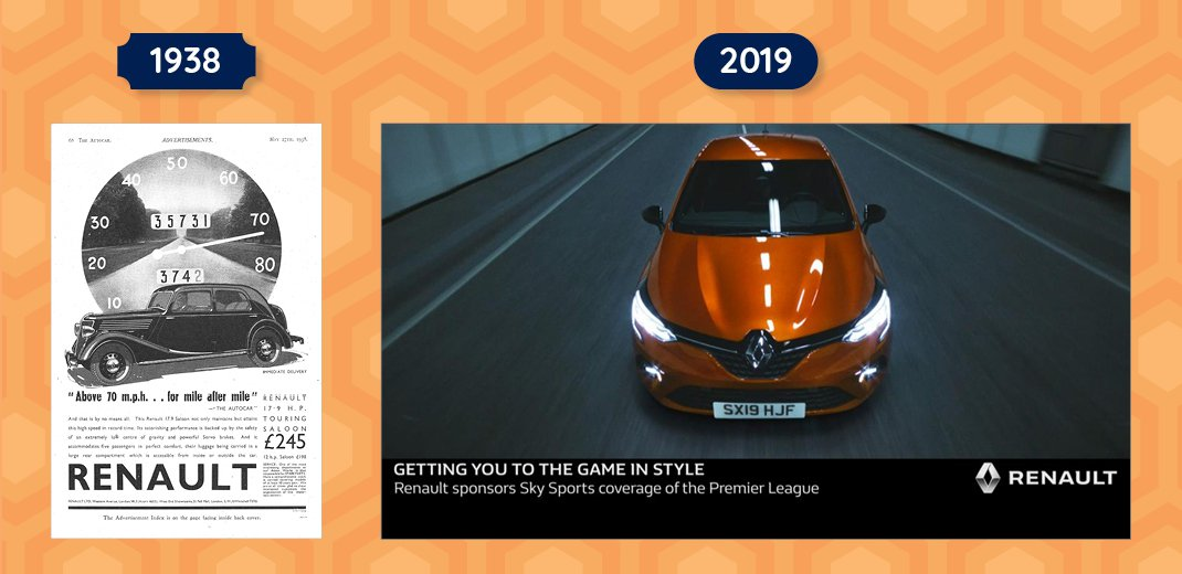 Renault adverts past and present