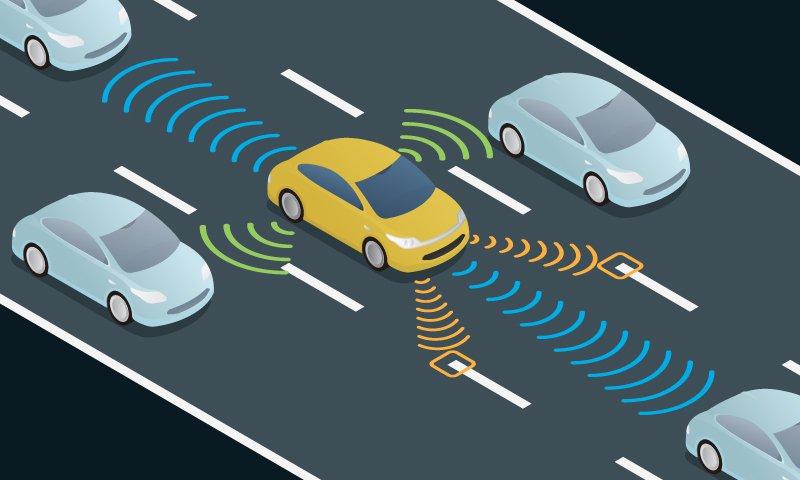 Driverless cars sensors