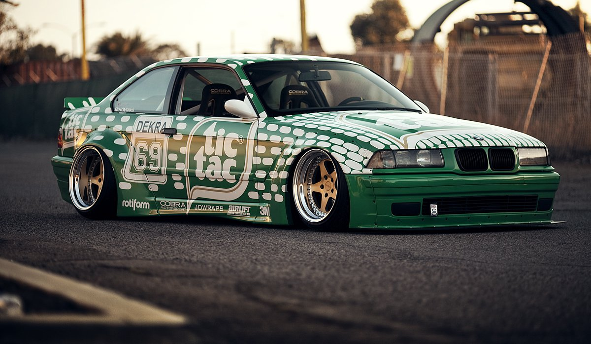 Carl Taylor BMW 3 Series with tic tac theme