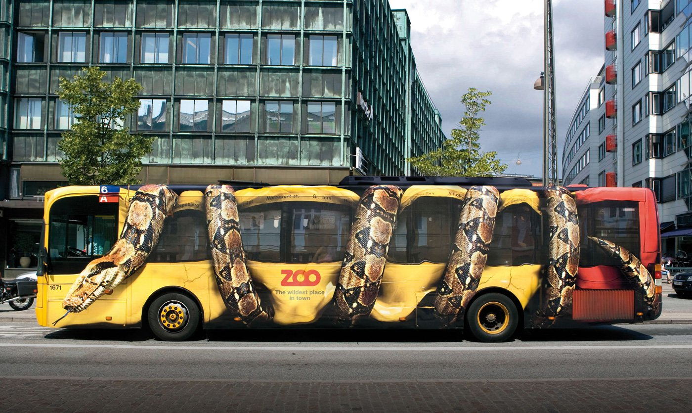 Wrapped Bus with Snake Design