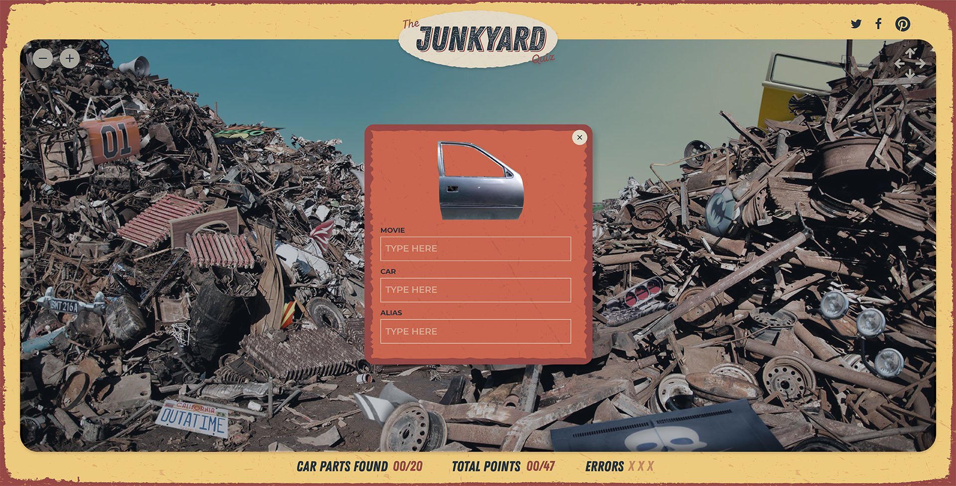 Junk yard quiz
