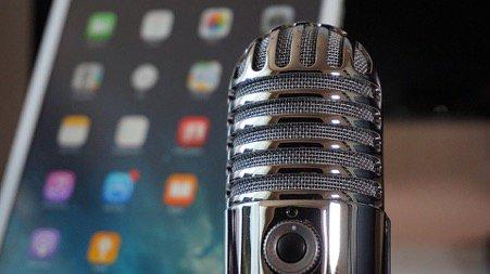 Blue Yeti Microphone and iPad