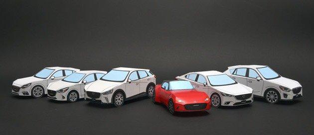 Mazda paper crafts